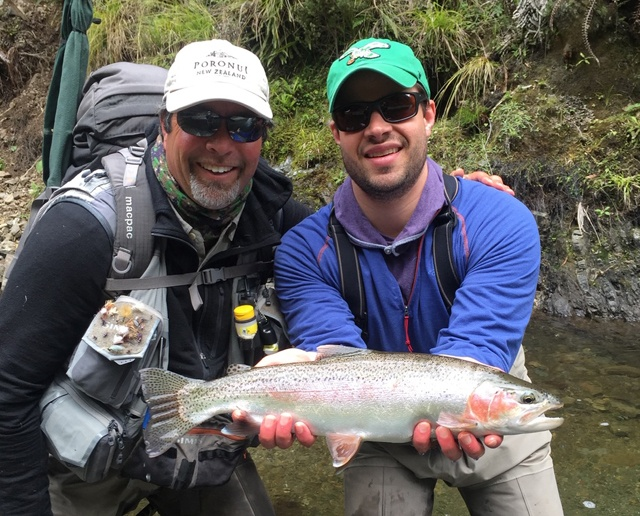 Fall Fishing - Happy Client with Guide Duncan