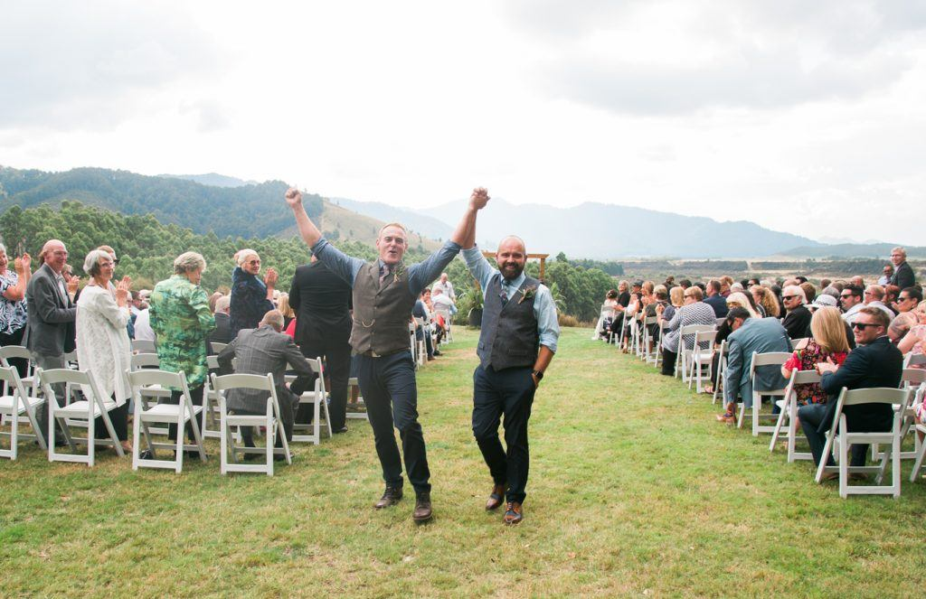 blake house lawn ceremony
